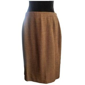 RENA ROWAN FOR SAVILLE Skirt Orange Black Wool